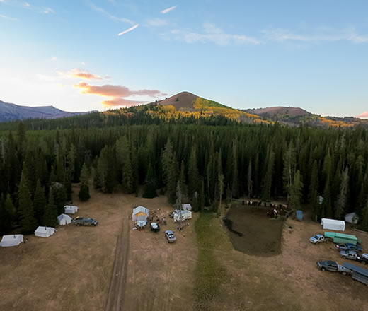 Trophy Mountain Drive-in Camp Elk Hunts